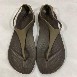 Crocs women's sexi flip beige sandal